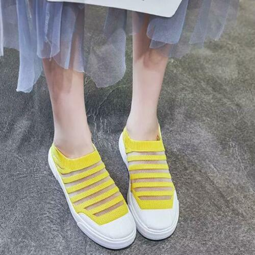 Fashion Women/'s Mesh Walking Lightweight Shoes Slip on Flats Breathable Athletic