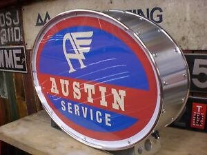 Austin,morris,<wbr/>a35,a40,vintag<wbr/>e,old,j,classi<wbr/>c,mancave,ligh<wbr/>tup sign,garage,wo<wbr/>rkshop