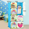 DIY 8 Cube Cute Kid Storage Cupboard Cabinet Wardrobe Rack Toy Book Shelves