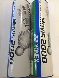 Mavis 300 Badminton Shuttlecocks 6 pieces White 78 Medium Blue