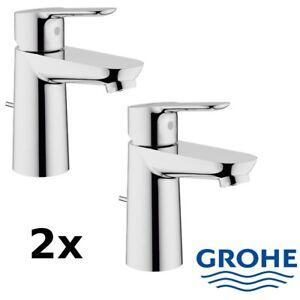 GROHE BauEdge DN 15 S Einhand-Waschtischarmatur mit Kunststoff-Zugstange - Chrom (23328000)