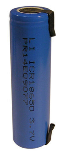 Lithium Li-Ion 18650 Cylindrical 3.6V 2000mAh Cell w/ Tabs