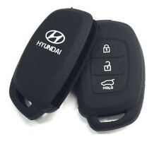 Black Silicone Car Auto Remote Fob Key Holder Case Cover For Hyundai i20