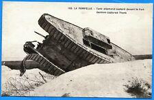 CPA: LA POMPELLE - Tank allemand capturé devant le Fort / Guerre 14-18