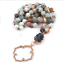 Bohemian-Tribal-Jewelry-Beads-Halsband-Amazonite-Stones-Natural-Necklace thumbnail 3