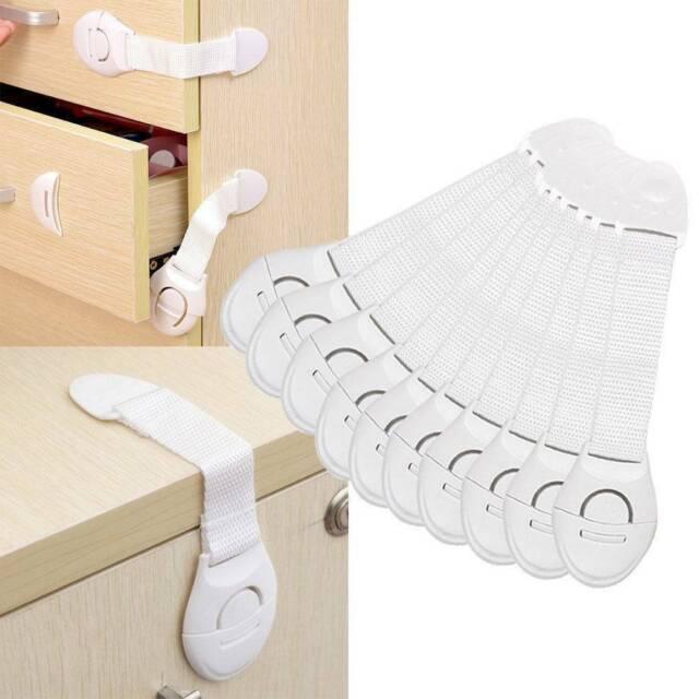 10Pcs Baby Lockers Drawer Locks Child Cabinet Safety Ovens Locks Refrigerators G