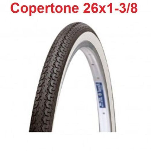 """1 Copertone Bianco//Nero 26x1-3//8 = 37-590 Deestone per Bici 26/"""" Tipo Graziella"""