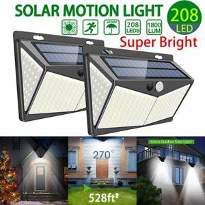 208LED-Outdoor-Solar-Power-Light-PIR-Motion-Sensor-Garden-Wall-Lamp-Waterproof