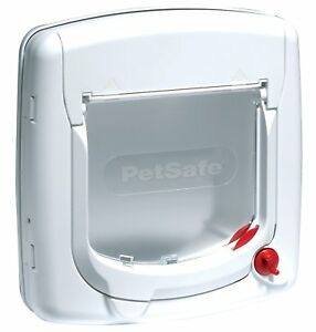 Staywell-Deluxe-Manual-Cat-Flap-White