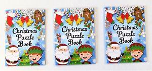 Confezione-di-3-libri-di-Natale-Puzzle-Natale-Calza-Filler-Partito-Favori