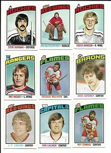 1976-77-OPC-Hockey-Lot-of-9-different