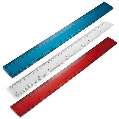 "12/"" Inch School//Office//Work Flexible Ruler Colourful Flexi Bendy Rulers 30cm"