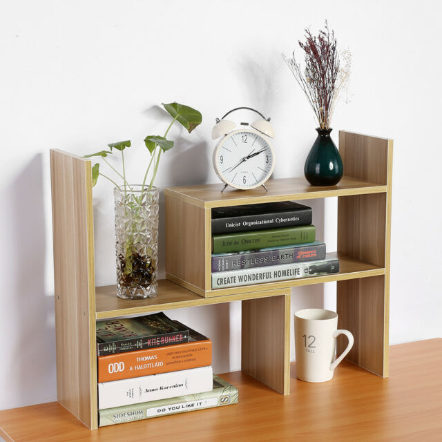 Modern Desktop Storage Rack Home Office Desk Storage Organizer Book Shelf  DIY