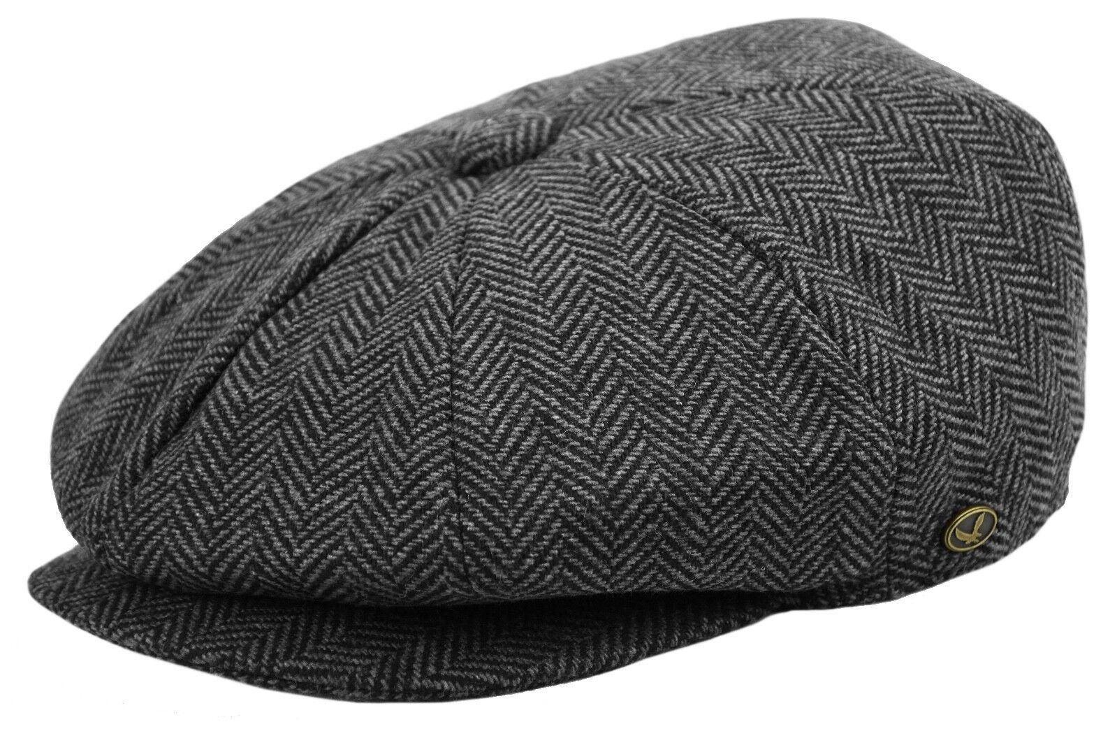 Negro Gorra Fiddler de pana de Brixton Hats