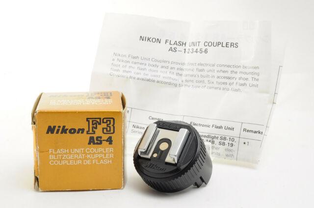 [Excellent+++] Nikon AS-4 AS 4 Flash coupler shoe adapter for Nikon F3 w/ Box