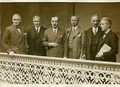"""délégation Allemande Conference Desarmement 1932"" Photo Originale G.devred/ Rol Para Ganar Un CáLido Elogio De Los Clientes"