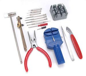 16-Pieces-Watch-Repair-Kit-Set-Wrist-Strap-Adjust-Pin-Tool-Kit-Back-Remover-UK