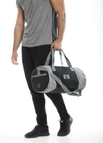 Golds Gym Contrast Workout Training Travel Fitness Holdall Barrel Duffle Bag