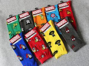 Marvel-Hero-General-Socks-Iron-Man-Captain-America-Knee-High-Warm-Stitching-patt