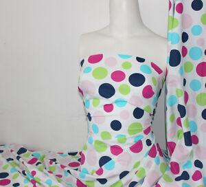 Multi Color Polka-dot Lycra//Spandex 4 way stretch Matt Finish Fabric