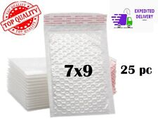 25 Pcs 7x9 White Color Self Seal Poly Padded Bubble Mailers Envelopes