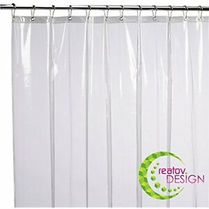 Image Is Loading Mildew Resistant Shower Curtain Liner 72x72 Clear Peva