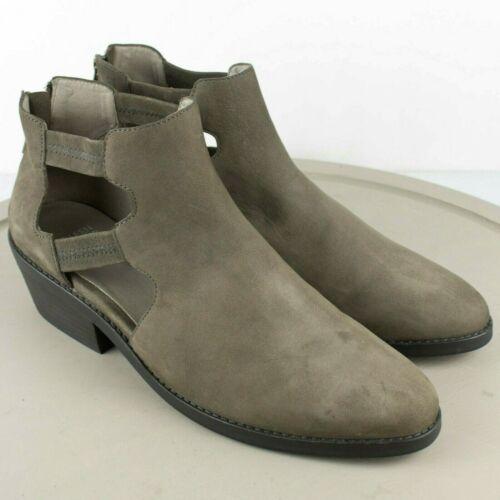 Eileen Fisher Vanda Ankle Graphite Nubuck Boots SI