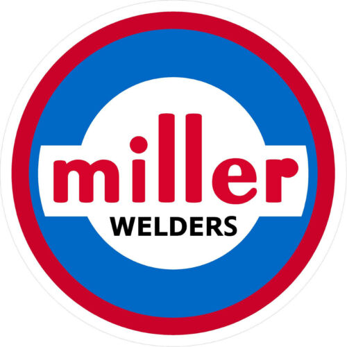 "SET OF 2 MILLER WELDER 1960 DECAL STICKER 5/"""