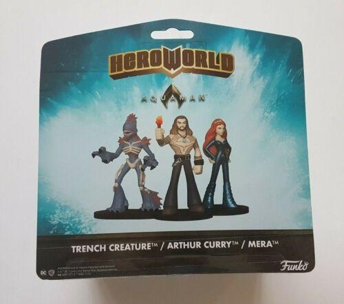 Arthur Curry /& Mera Funko heroworld Series 8 DC Comics AQUAMAN Trench créature