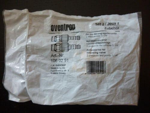 106 02 91  für OV-Strangregulierventil Meßventile G 1//4 Neu Oventrop Set 2 Art