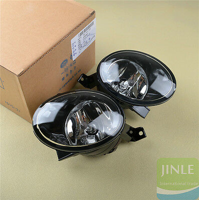 Pair Front Bumper Halogen Fog Light Lamp W/ 9006 Bulb For Golf Jetta MK6 Tiguan