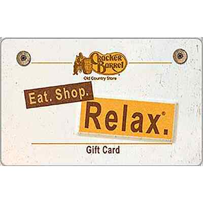 Cracker Barrel Old Country Store® Gift Card $25 $50 $100 - Email delivery