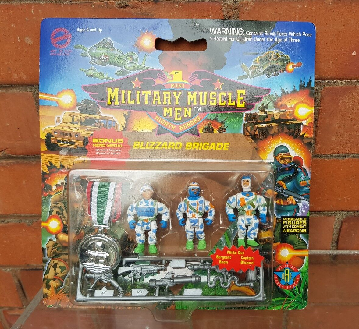 Military Muscle Men Blizzard Force Action Figures  MOC Carded Vintage 90s Sealed