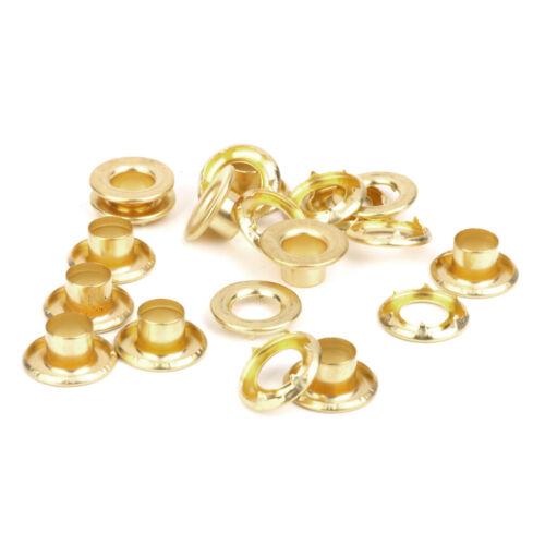 10x Plane Markisenzelt Plane Baldachin Ösen Ösen Reparatur Gold Kupfer