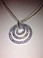 Nolan Miller Collection Contemporary Pave' Circle Necklace With 2 Chains