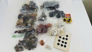 Vintage 2 Pound Lot Old Vintage Buttons Crafts Sewing Asst Sizes K2