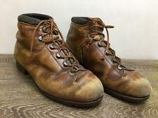 Vintage RAICHLE WOMENS Swiss Leather ALPINE Mountaineering Hiking Boots 6.5 37