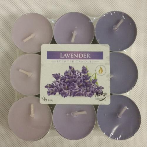 18er Set Duftteelichter Teelichter 9 verschiedene Aromen Kerze Duftkerze NEU OVP