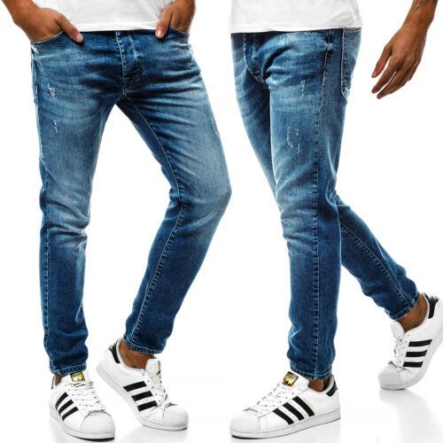 OZONEE b//7158 Uomo Jeans Pantaloni Skinny Jeans Straight Cut Slim Fit Pantaloni Clubwear