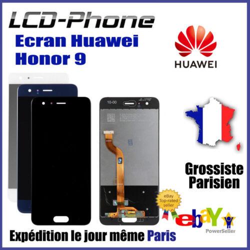 Vitre Tactile Blanc Original LCD Ecran Huawei Honor 9 Noir