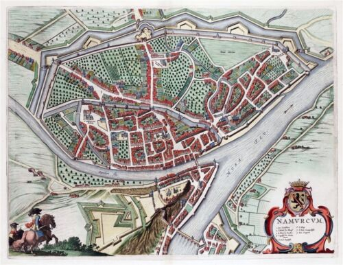 Namen 1649 Reproduction plan ancien de Namur