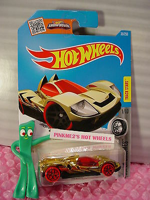 Case L//M 2016 i Hot Wheels TEEGRAY #36 ✰GOLD;RED y5✰Super Chromes✰1:64 Scale