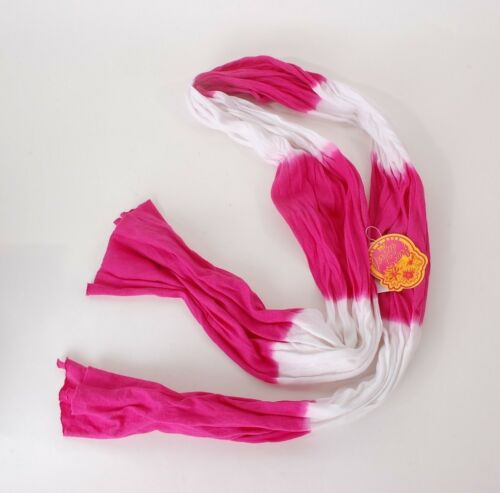 2014 NWT WOMENS MV SPORT AMANDA SCARF $20 hot pink white tie dye wrap