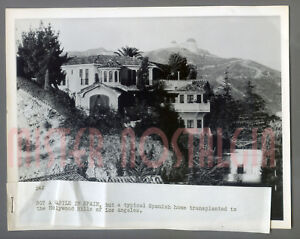 VINTAGE-PHOTO-1955-Spanish-Castle-in-Hollywood-Hills-Griffith-Observatory-LA