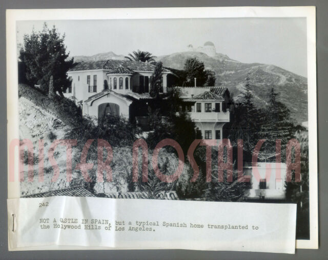 VINTAGE PHOTO 1955 Spanish Castle in Hollywood Hills Griffith Observatory LA