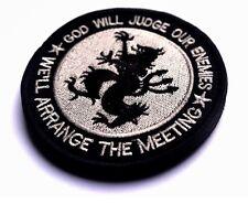 GOD WILL JUDGE.. Navy Seal TEAM 6 DEVGRU Black Lion Hk/Lp Patch Silver