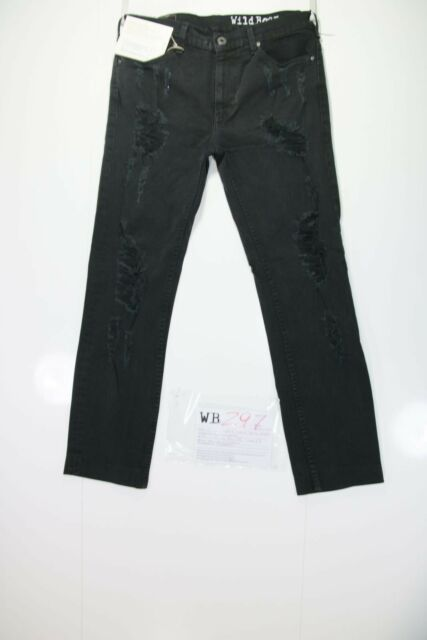 Levis 519 Stretch Skinny Customizzato(cod. WB297)tg.47 W33 L// jeans remake Nero