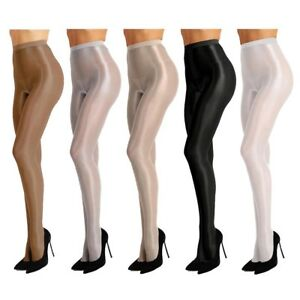 c2423af3b10 Image is loading Women-Seamless-Silk-Body-Stockings-Sheer-Oil-Shiny-