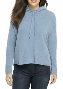 NWT $198 L,XL,2X Plus Eileen Fisher Organic Cotton Chenille Hoodie Midnight