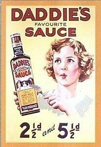Daddies-Sauce-A5-size-steel-sign-210mm-x-150mm-hb-REDUCED